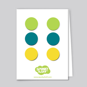 Painted Dot Magnets, Small Variety Pack