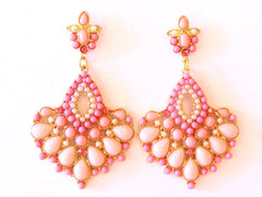 Chandelier Earrings Pale Pink