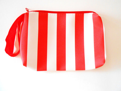 Cosmetic Red & White Stripe