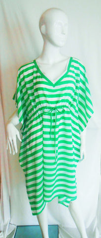 Antigua Green & White Stripe