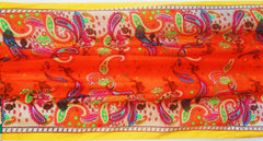 Mozambique Silk Scarf Orange