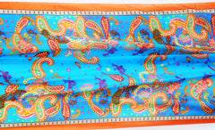 Mozambique Silk Scarf Turquoise