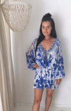 Load image into Gallery viewer, Camilla The Fan Sea Blouson Sleeve Playsuit