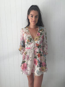 Zimmermann Heathers Linen Playsuit