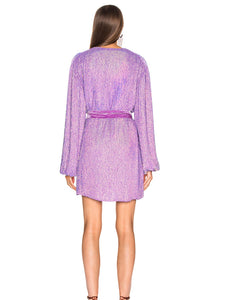 Retrofete Gabrielle Dress ~ Metallic Lavender