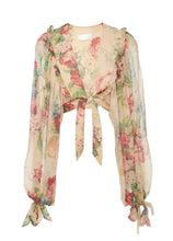 Load image into Gallery viewer, Zimmermann Melody floral print cropped silk blouse
