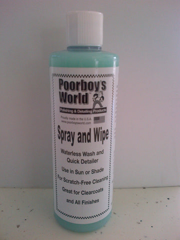 Poorboys Spray and Wipe Waterless Wash
