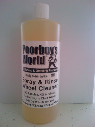 Poorboys World Spray and Rinse Wheel Cleaner
