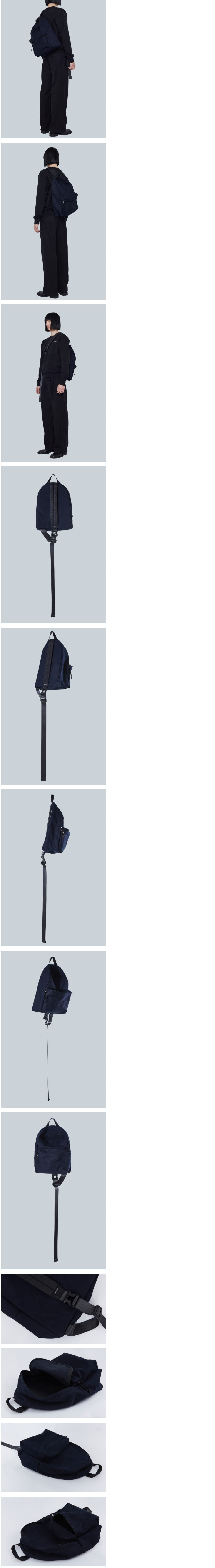 Cross Backpack (Cotton-navy)