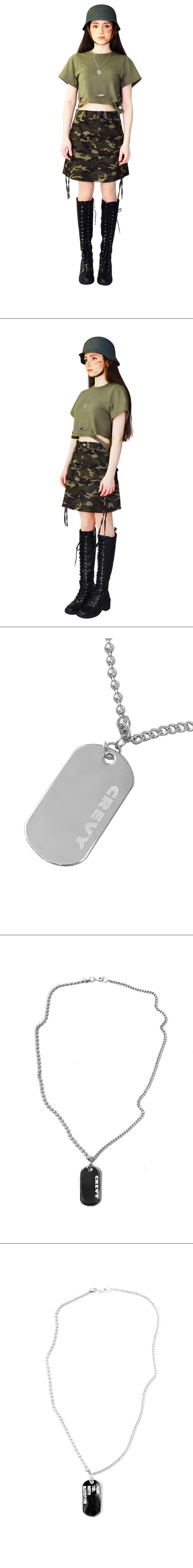 Military Serial Number Neckless (silver)