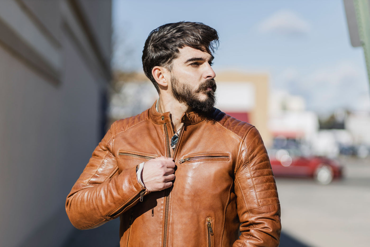Men's Leather Fashion Outerwear