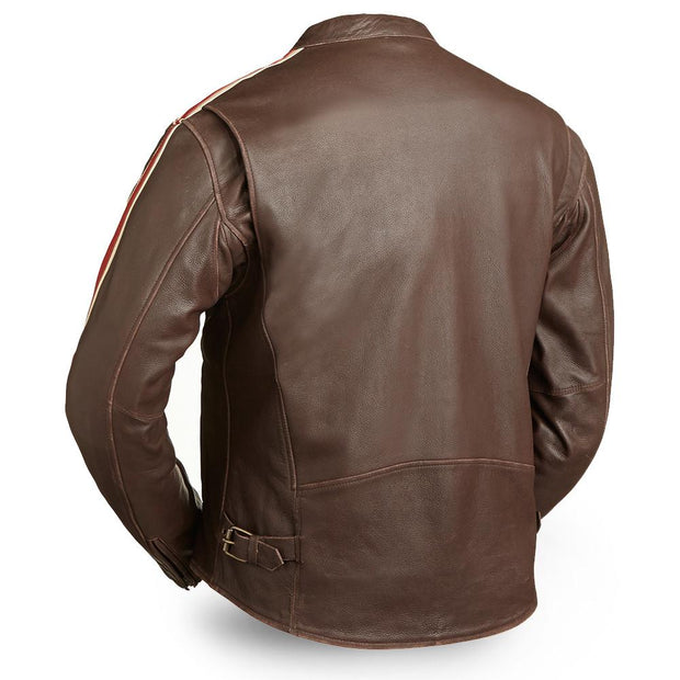 Fast Pace - Men's Motorcycle Leather Jacket