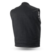 Highland V2 - Men's Motorcycle Canvas Vest