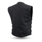 Knox - Men's Motorcycle Canvas Vest