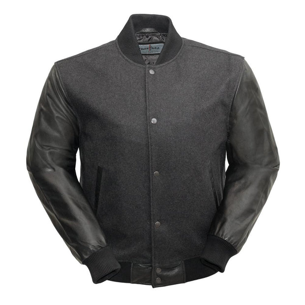 Varsity - Men's Woolen Jacket with Leather Sleeves