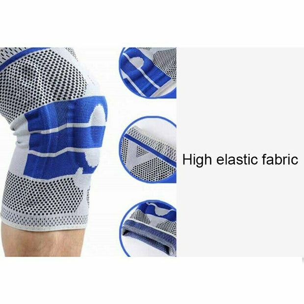 Silicon Knee Pad Strap Braces for Arthritis Joints Support Meniscus Compression