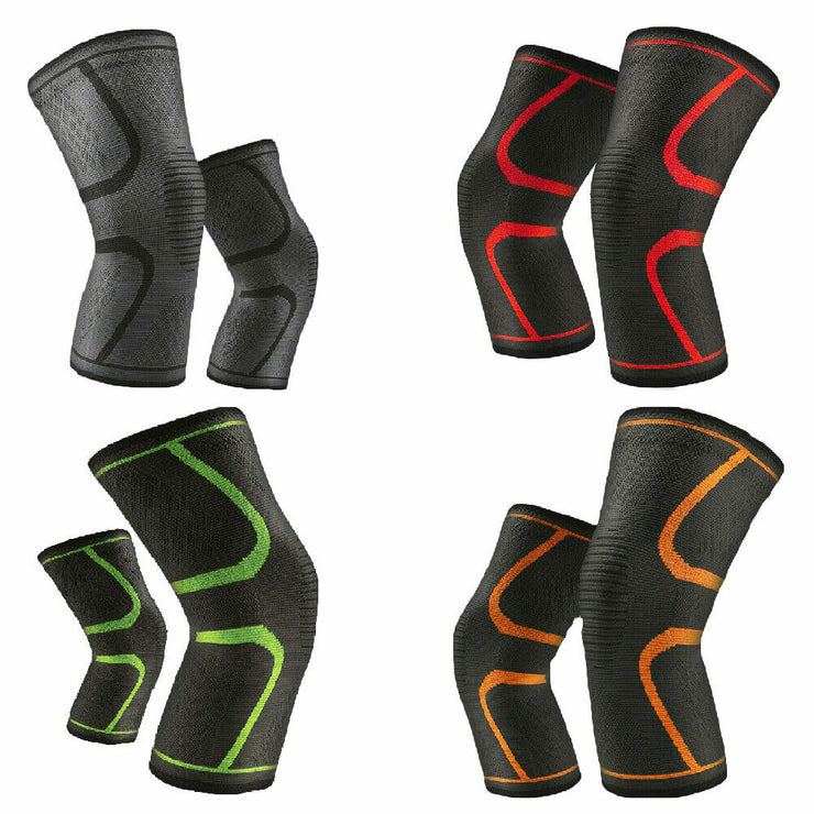 Elastic Knee Pad Protective Gear Patella Brace Basketball Support Sports Fitness