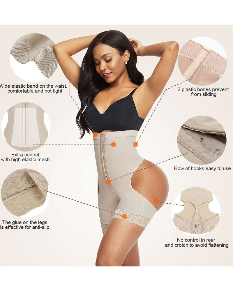 High waist and abdomen control slim underwear to shape the waist belt