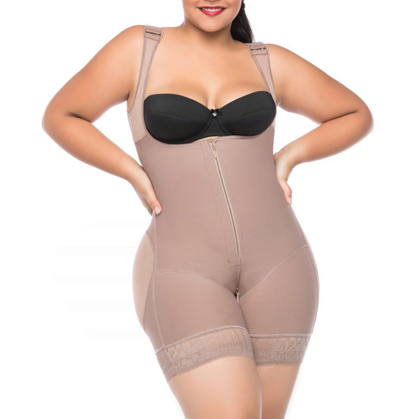 Compression Bodysuit with Zipper