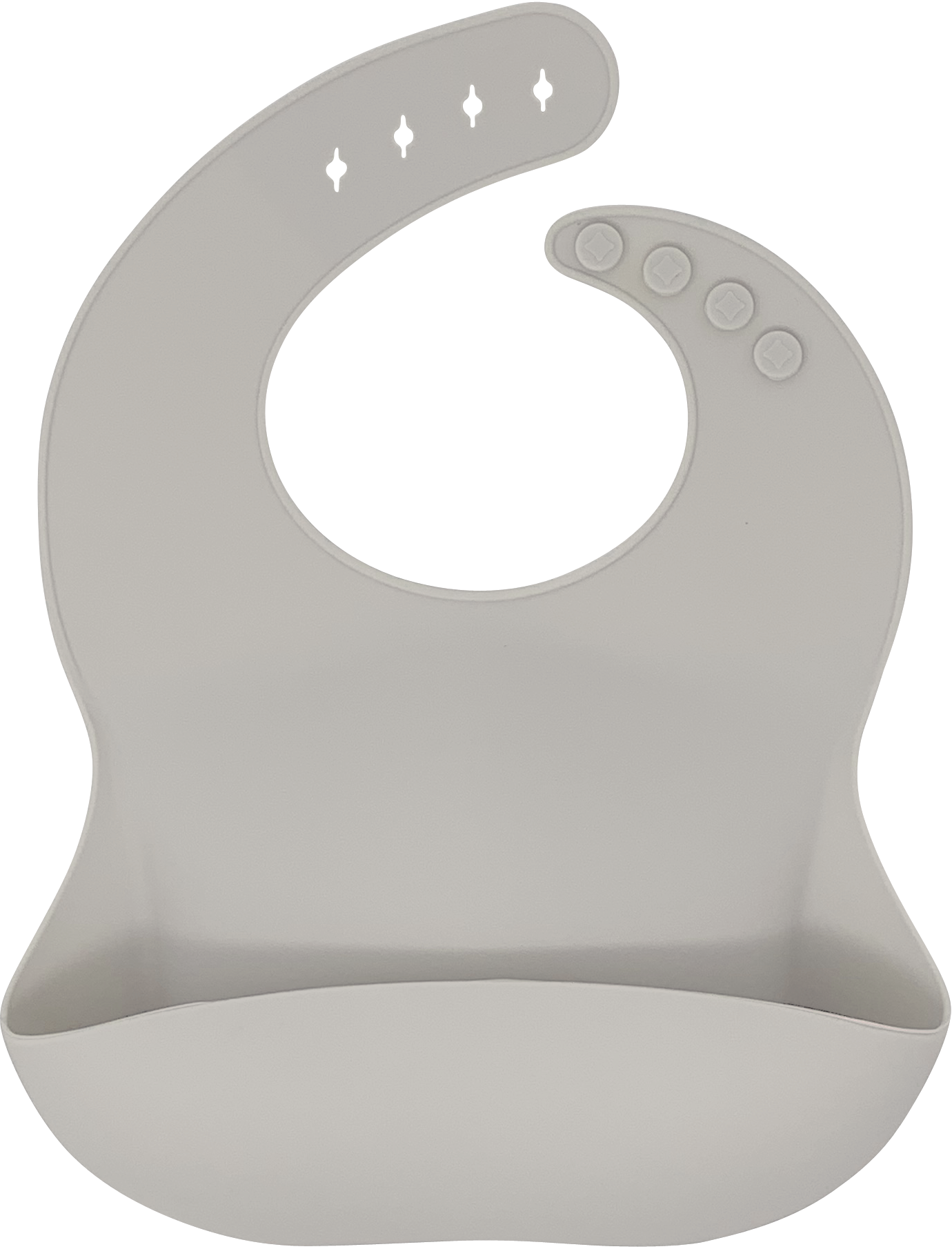 bibito silicone bib in biscuit (light beige)