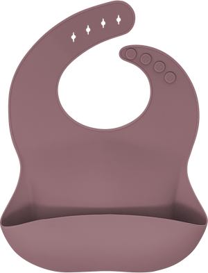 bibito silicone bib in dusty plum (muted plum)