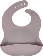 bibito silicone bib in thistle (light grayish lavender)