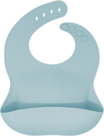 bibito silicone bib in white sage (pale dusty mint)