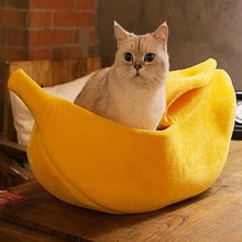 Load image into Gallery viewer, Banana Hide Out Basket Pet Bed