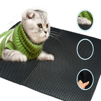EVA Foam Rubber Waterproof Pet Cat Litter Mat NON SLIP