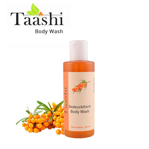 Taashi Natural Seabuckthorn Body Wash - Brightens skin, Improves Skin Tone, Deep Cleansing, Exfoliation, Smooth Skin, Washes Impurities, For Oily Skin, Sensitive Skin, Dry Skin, For Women & Men
