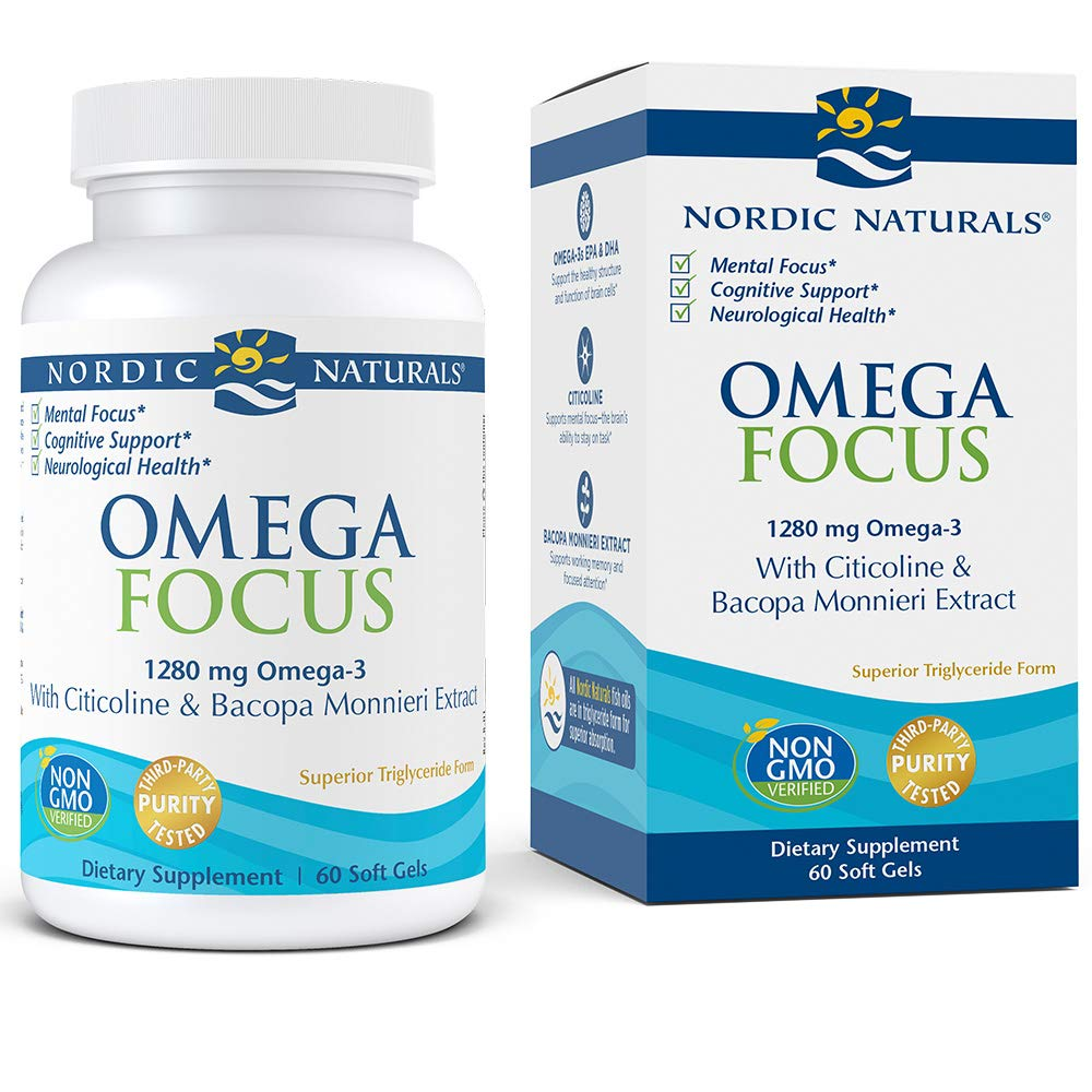 Nordic Naturals Omega Focus Cognitive Support - High Quality Omega-3s and Key Nutrients Help Optimize Neurological Health and Support Mental Focus*, 60 Count