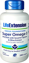 Load image into Gallery viewer, Life Extension Super Omega-3 (Fish Oil)  EPA/DHA