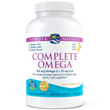 Load image into Gallery viewer, Nordic Naturals - Complete Omega, Soft Gels 180 Count, Lemon