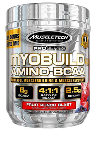 MuscleTech Myobuild BCAA Amino Acids Supplement