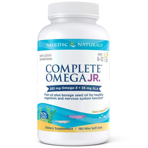 Nordic Naturals Complete Omega Junior - Promotes Brain, Bone, Nervous and Immune System Health, 180 Count