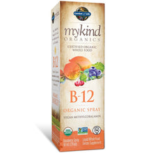 Load image into Gallery viewer, Garden of Life B12 Vitamin - mykind Organic Whole Food B-12 for Metabolism and Energy, Raspberry, 2oz Liquid