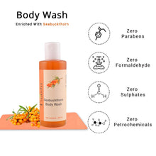 Load image into Gallery viewer, Taashi Natural Seabuckthorn Body Wash - Brightens skin, Improves Skin Tone, Deep Cleansing, Exfoliation, Smooth Skin, Washes Impurities, For Oily Skin, Sensitive Skin, Dry Skin, For Women & Men