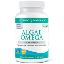 Load image into Gallery viewer, Nordic Naturals Algae Omega - Vegetarian Omega-3 Supplement for Eye Health, Heart Health, and Optimal Wellness, 120 Count