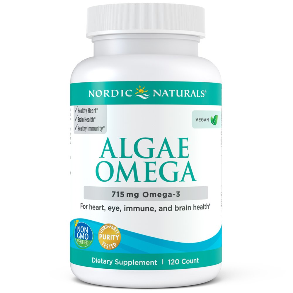 Nordic Naturals Algae Omega - Vegetarian Omega-3 Supplement for Eye Health, Heart Health, and Optimal Wellness, 120 Count