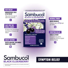Load image into Gallery viewer, Sambucol Black Elderberry Cold & Flu Relief Tablets 30 Count, Homeopathic Remedy for Temporary Relief of Cold and Flu-like Symptoms