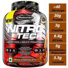 Load image into Gallery viewer, Muscletech NitroTech Protein Powder Plus Creatine Monohydrate Muscle Builder