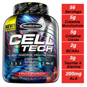 MuscleTech Cell Tech Creatine Monohydrate Formula Powder