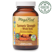 Load image into Gallery viewer, MegaFood, Turmeric Strength for Whole Body, Maintains a Healthy Inflammation Response, Vitamin and Herbal Dietary Supplement, Gluten Free, Vegan, 60 Tablets (30 Servings) (FFP)