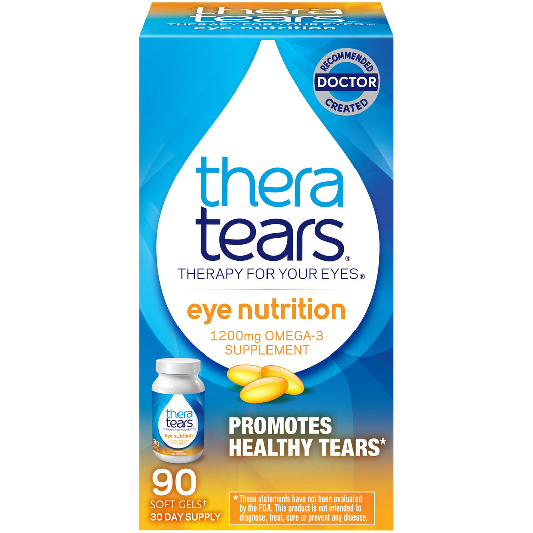 TheraTears 1200mg Omega 3 Supplement for Eye Nutrition
