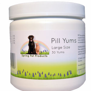 Spring Pet Pill Yums ~ Large 30 Count ~ Tasty Pocket Treat to Hide Your Pet's Medication ~ Recommended by Veterinarians