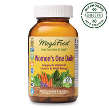 Load image into Gallery viewer, MegaFood, Women's One Daily, Daily Multivitamin and Mineral Dietary Supplement with Vitamins C, D, Folate and Iron, Non-GMO, Vegetarian, 90 Tablets (90 Servings) (FFP)