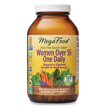 Load image into Gallery viewer, MegaFood, Women Over 55 One Daily, Supports Optimal Health and Wellbeing, Multivitamin and Mineral Dietary Supplement, Vegetarian, 120 tablets (120 servings)