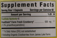 Load image into Gallery viewer, MegaFood - Pure Cranberry, Farm-Fresh Support for Urinary Tract Health and Immune Defenses, Vegan, Gluten-Free, Non-GMO, 60 Capsules (FFP)