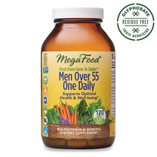 Load image into Gallery viewer, MegaFood - Men Over 55 One Daily, Multivitamin Support for Healthy Energy Production and Immunity with Vitamins C and D3, and Methylated Folate and B12, Vegetarian, Gluten-Free, Non-GMO, 120 Tablet
