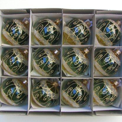 70mm (x12 in box) Clear decor. Antique Style
